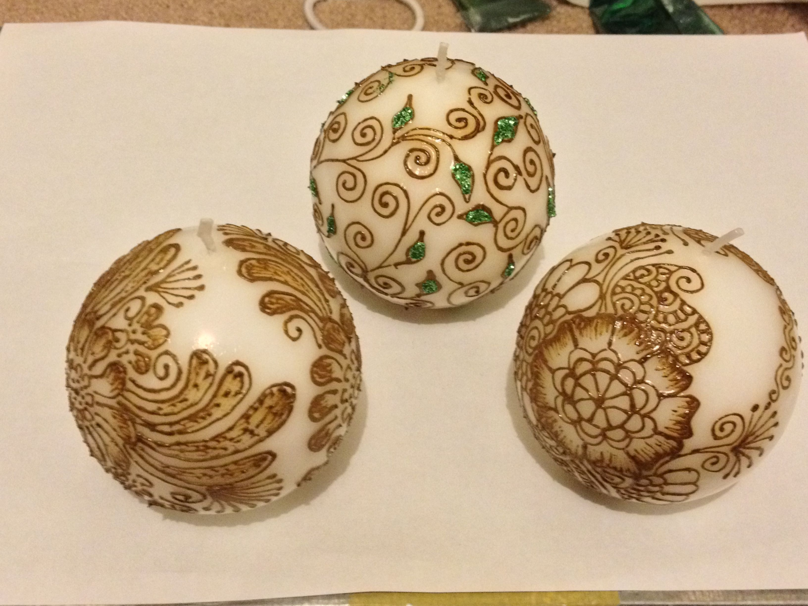 Round henna candles for decoration  and  gifts...