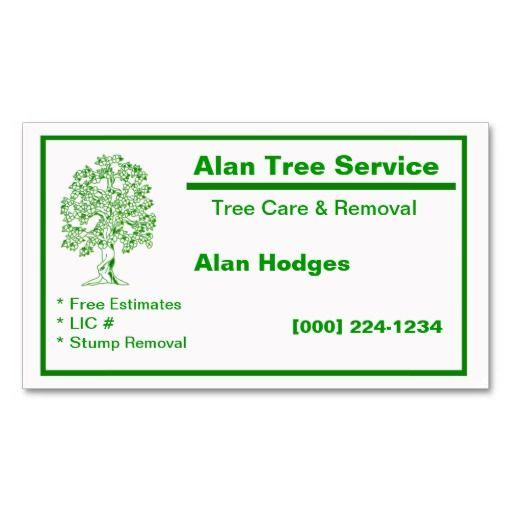 Tree Service Business Card Zazzle Com Tree Service Services Business Business Cards Tree services business cards
