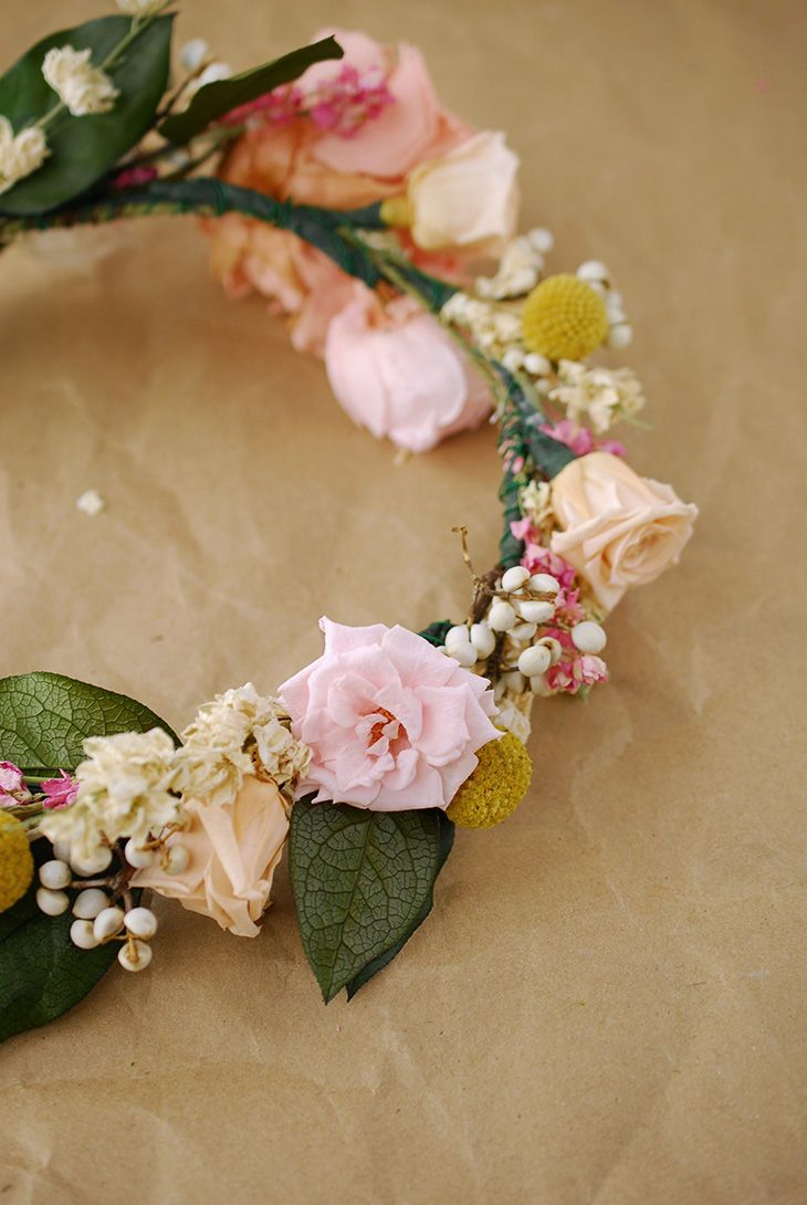 How to make a flower crown boho bridal shower ideas pinterest great directions and supplies how to make a flower crown maybe instead of a izmirmasajfo