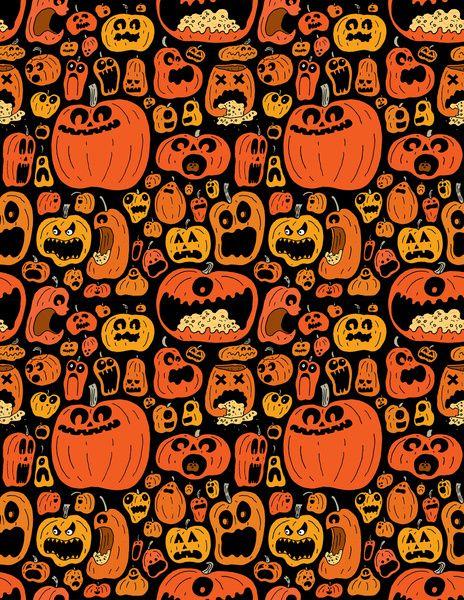 pumpkin pattern art print wallpapers