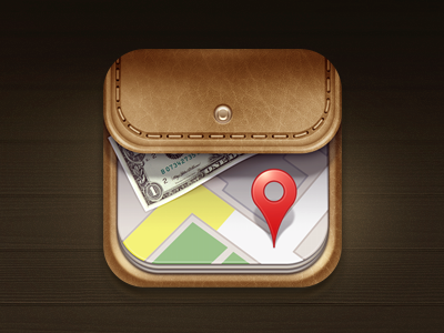 Wallet icon 2 by spovv Leather wallet design, App icon