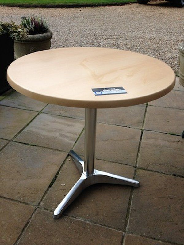 Werzalit tables - the standard for table tops for cafes and