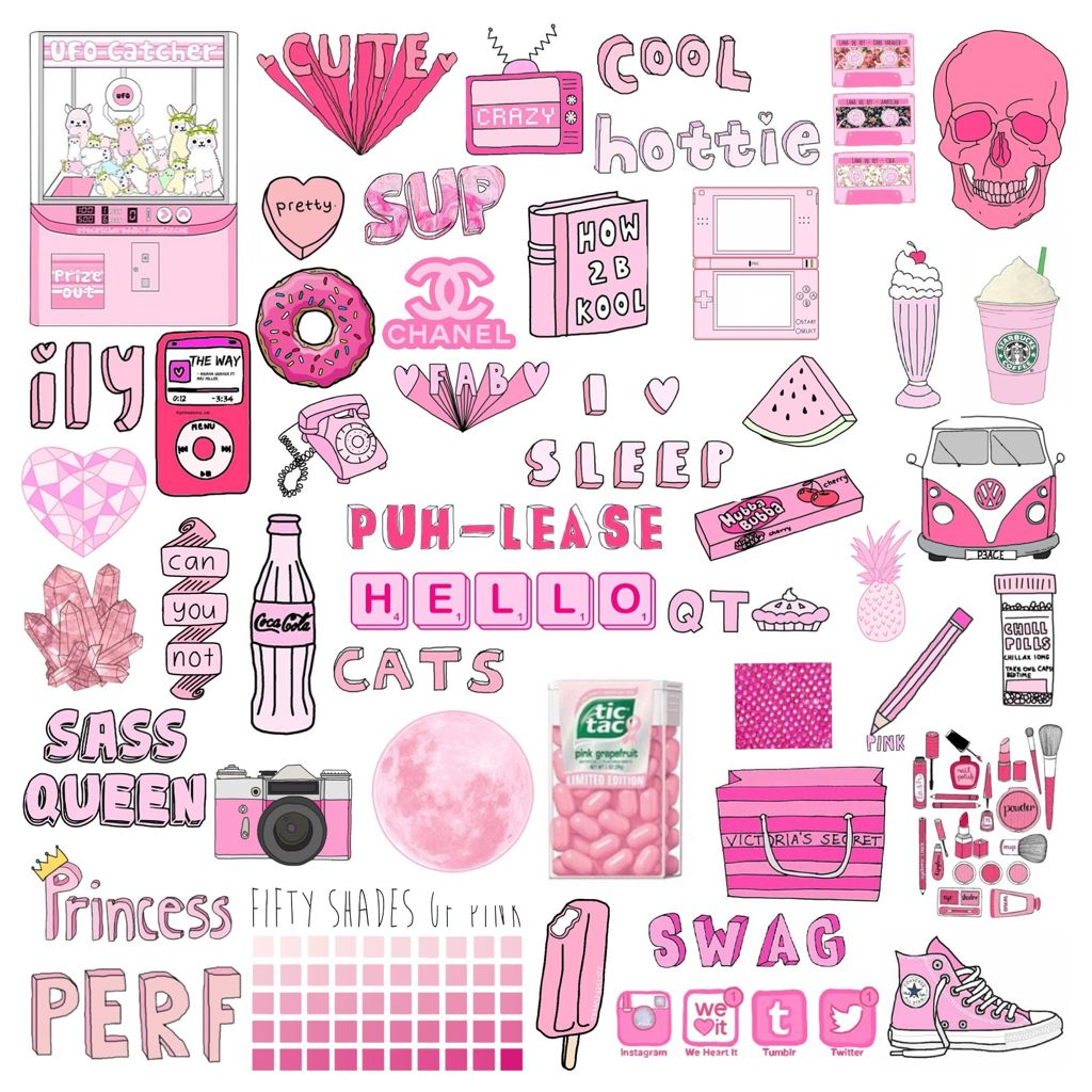 Collage Stickers Tumblr Buscar Con Google Kawaii Clipart