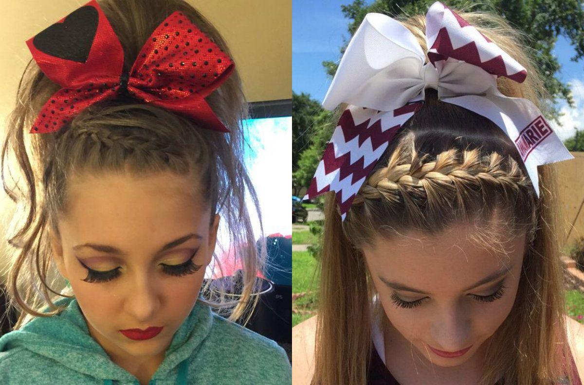 Front braids cheer hairstyles hoco pinterest front braids
