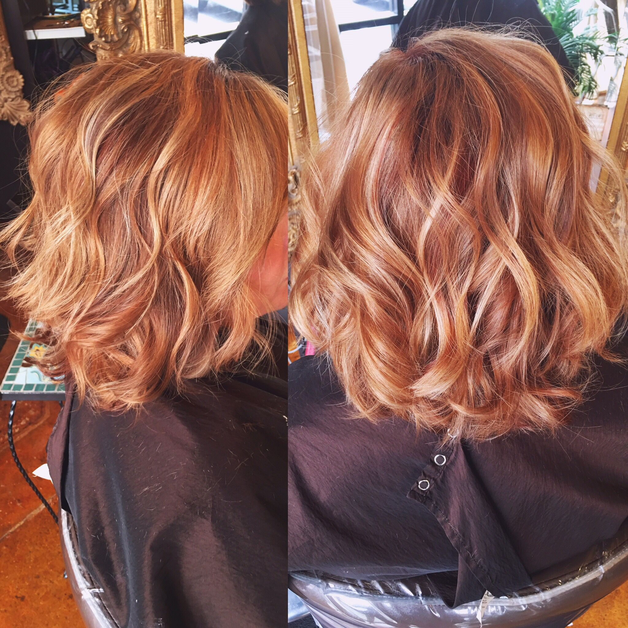 Copper Hair Color With Balayaged Highlights Hair By Chelsea At