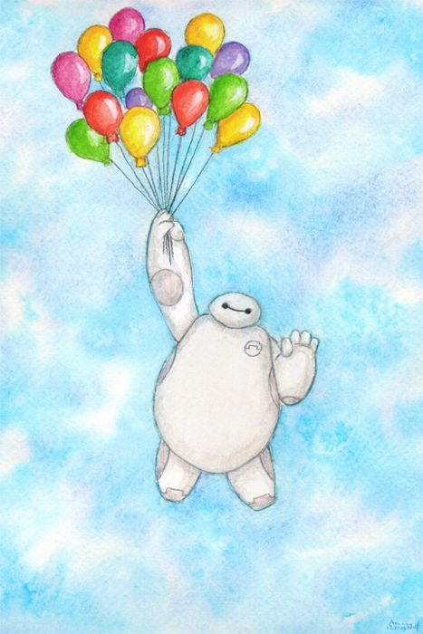 The Cutest Baymax Fan Art Baymax Fan Art And Fans - Baymax imagined famous disney characters
