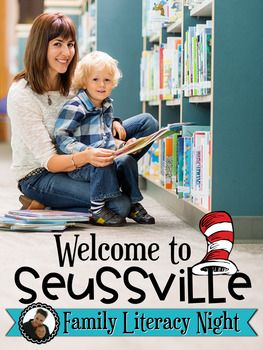 This is a resource perfect for those schools that celebrate Read Across America Day or March is Reading Month.  The theme is Dr. Seuss inspired, so it really can be used any time throughout the year.  Your school will transformed into Suessville, an exciting place where reading and writing magic happens!