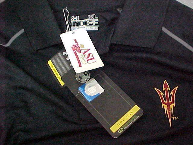 ARIZONA STATE SUN DEVILS Men Black Long Sleeve UPF Shirt XL