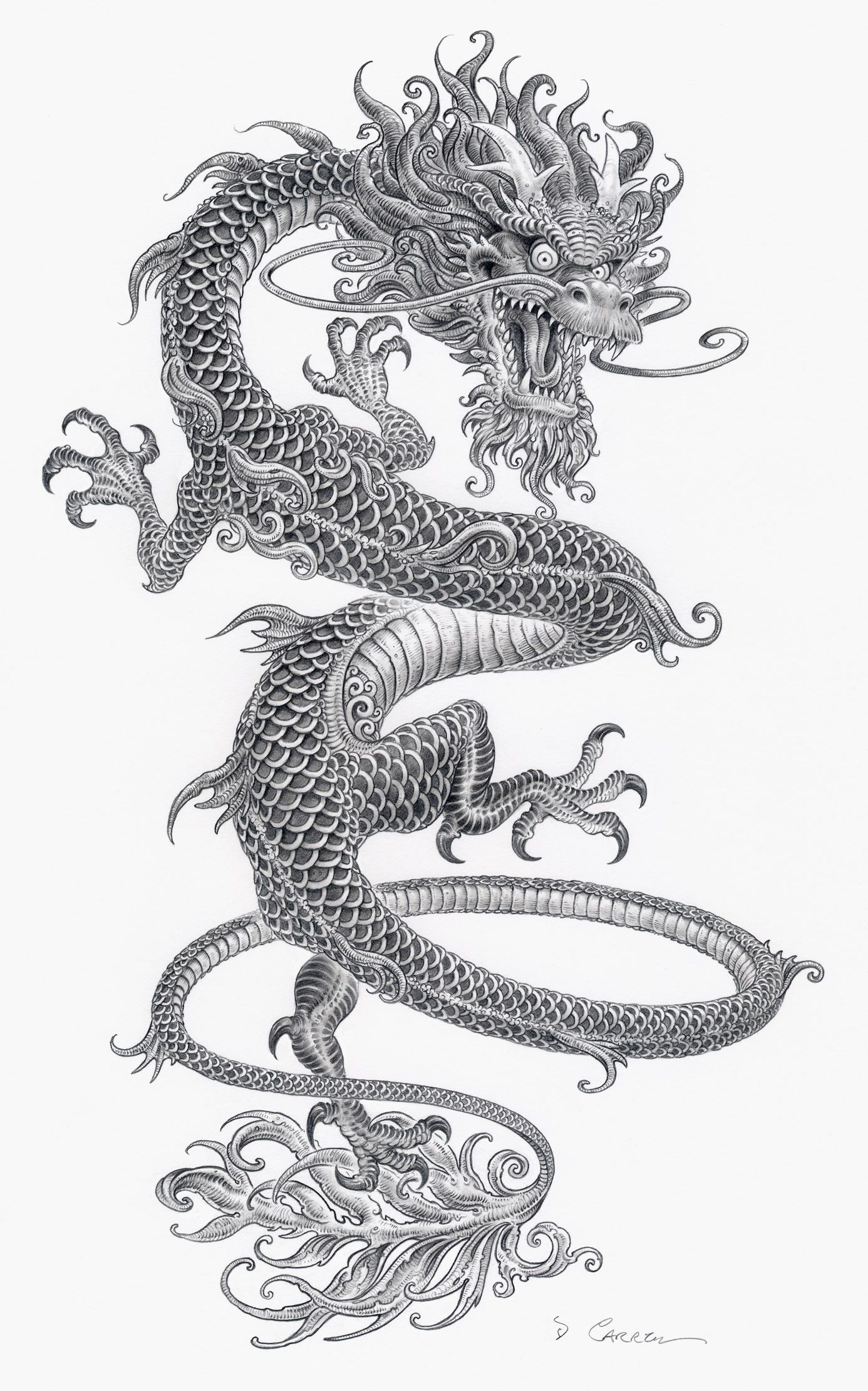 Tatuajes Japoneses Dragones artstation - swirling lung, douglas carrel | dragontatto | pinterest