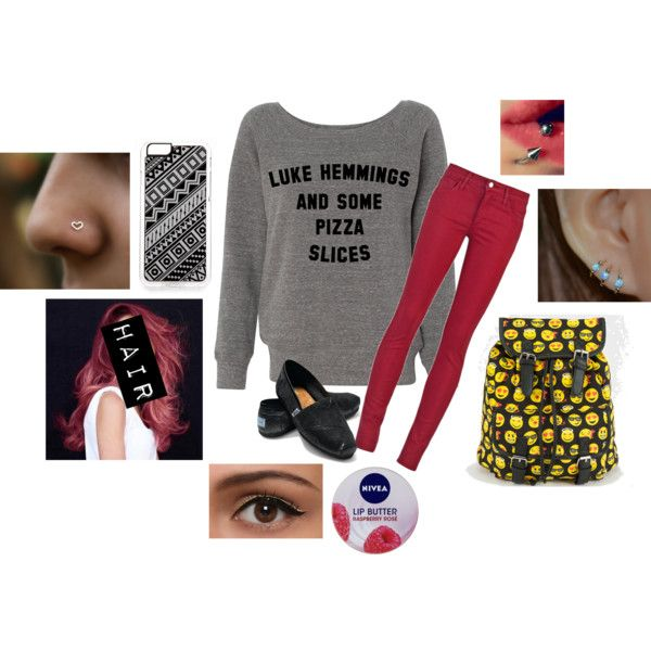 Untitled #751 by sunshine1299 on Polyvore featuring polyvore, fashion, style, Joe's Jeans, TOMS, Zero Gravity and Nivea