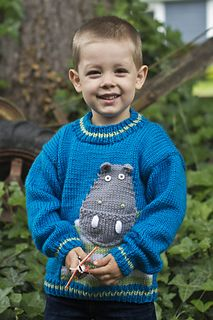 Hip Hippo-Ray! Pullover by Amy Bahrt - free