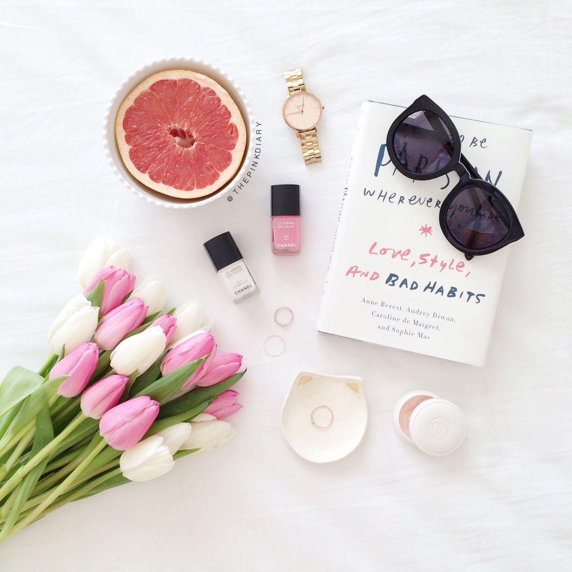 pink white tulips details instagram foto ideen instagram und fotos. Black Bedroom Furniture Sets. Home Design Ideas