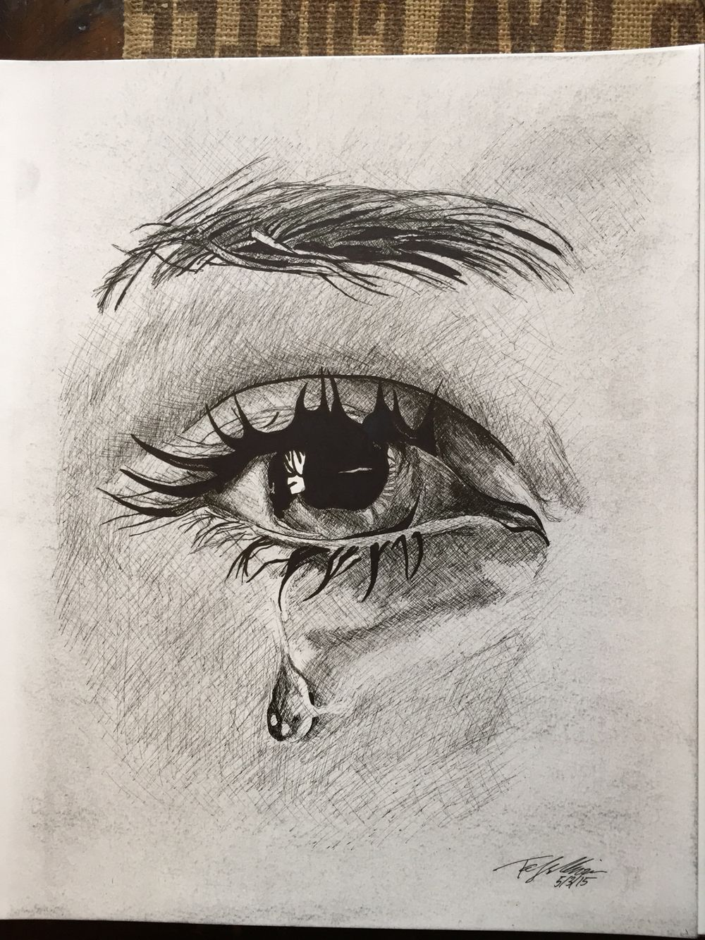 Drawing Of An Eye Crying : drawing, crying, #tear, #artist, #draw, #drawing, #sketch, #sketchaday, #sketchbook, ##myart, #illustration, #crossh…, Sketches,, Drawings, Sketches
