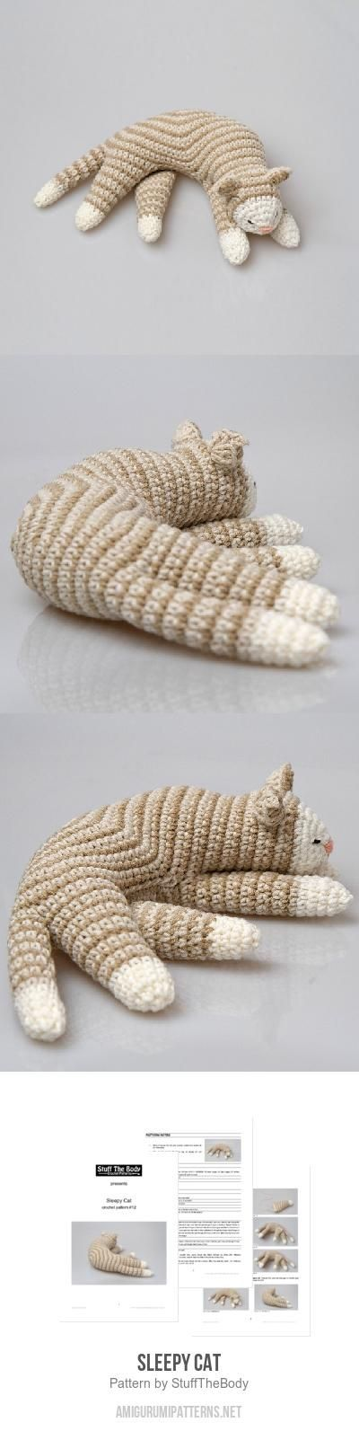 Sleepy Cat amigurumi pattern | Crochet | Croché, Tejidos y Muñecas