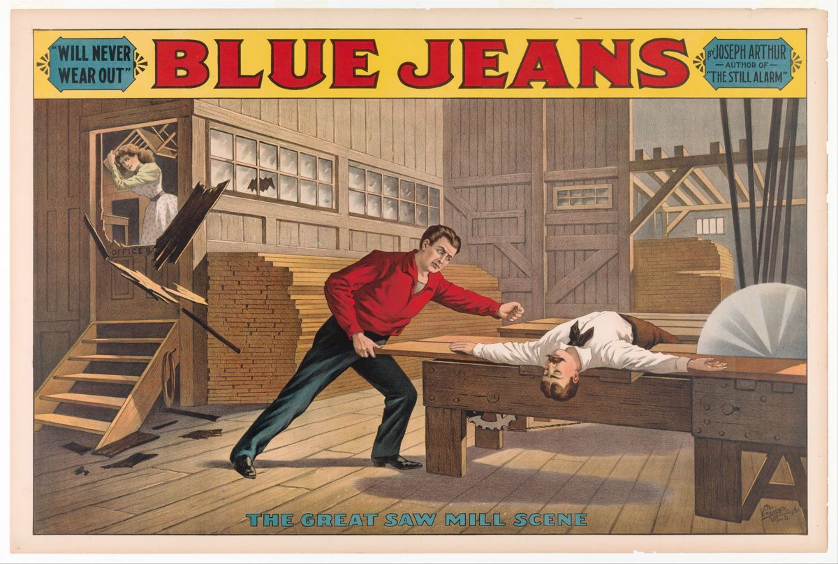 Saw Mill Scene, from Blue Jeans, Anonymous, American, 19th