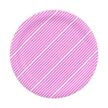 Pink and White Stripes Paper Plate - baby birthday sweet gift idea special customize personalize  sc 1 st  Pinterest & Pink and White Stripes Paper Plate - baby birthday sweet gift idea ...