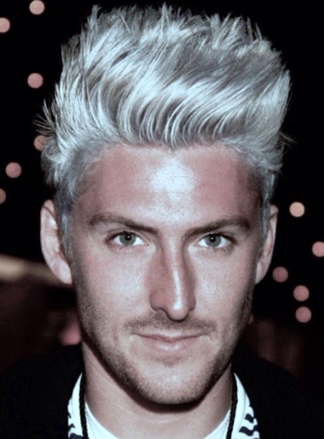 Platinum Blonde Modern Pompadour Men S Hair Mens Hairstyles