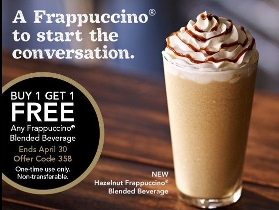 photo regarding Starbucks Printable Coupons identify Starbucks Coupon: Purchase Just one, Get hold of A person Cost-free Frappuccinos