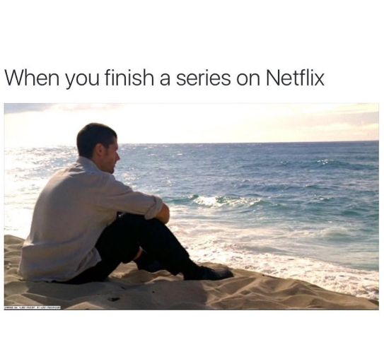 This is how finishing a series on Netflix feels Funny