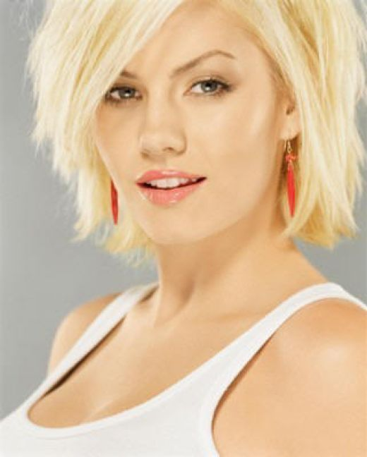 Short Choppy Hairstyles For Round Faces : short, choppy, hairstyles, round, faces, Elisha, Cuthbert, Choppy, Hair,, Short, Summer, Medium, Styles
