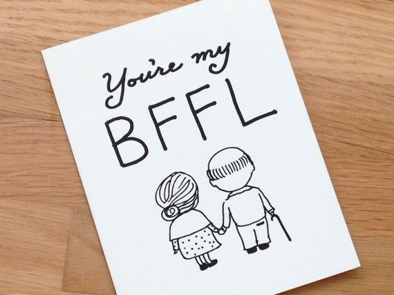 Cute Love Card Best Friend Funny By EuclidStreetShop 400