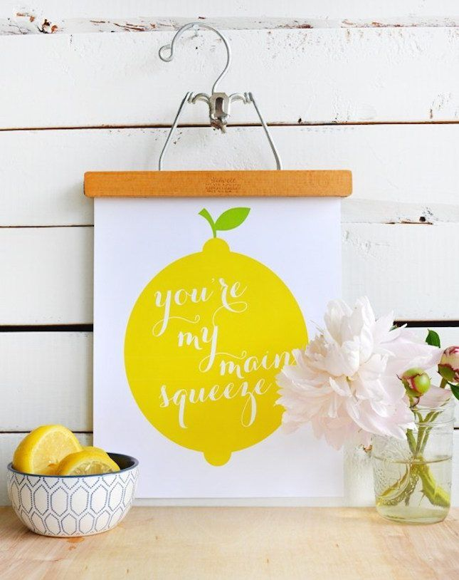 Love this DIY Beyoncé lemon printable wall art project. | DIY ...