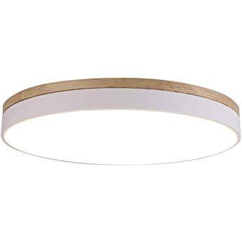 LED Rund Dimmbar Deckenleuchte Modern Minimalismus Holz