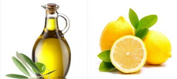 Jugo de limón, aceite de oliva y vinagre de manzana