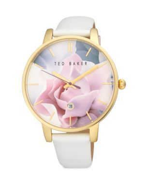 85faa25c6 TED BAKER Goldtone Stainless Steel Floral Analog Watch.  tedbaker  watch