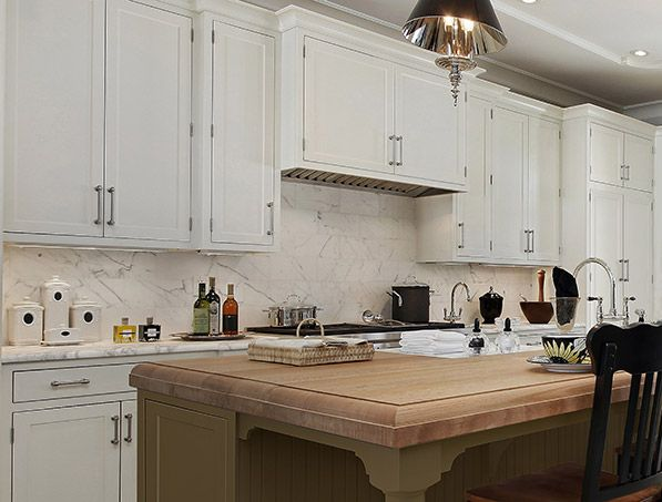 CliqStudios Painted Tea Leaf Kitchen Cabinets In The Austin Style