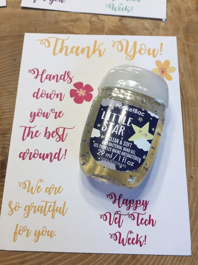 Vet Tech Week Appreciation Thank You Cards For Hand Sanitizer Printable Instant Download Pocketbac B Bw Hands Down Veterinarian In 2020 Hand Sanitizer Gift Staff Appreciation Gifts Vet Tech Gifts