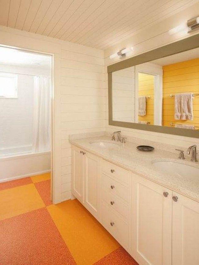 Bathroom Installing Linoleum Floor In Kitchen And