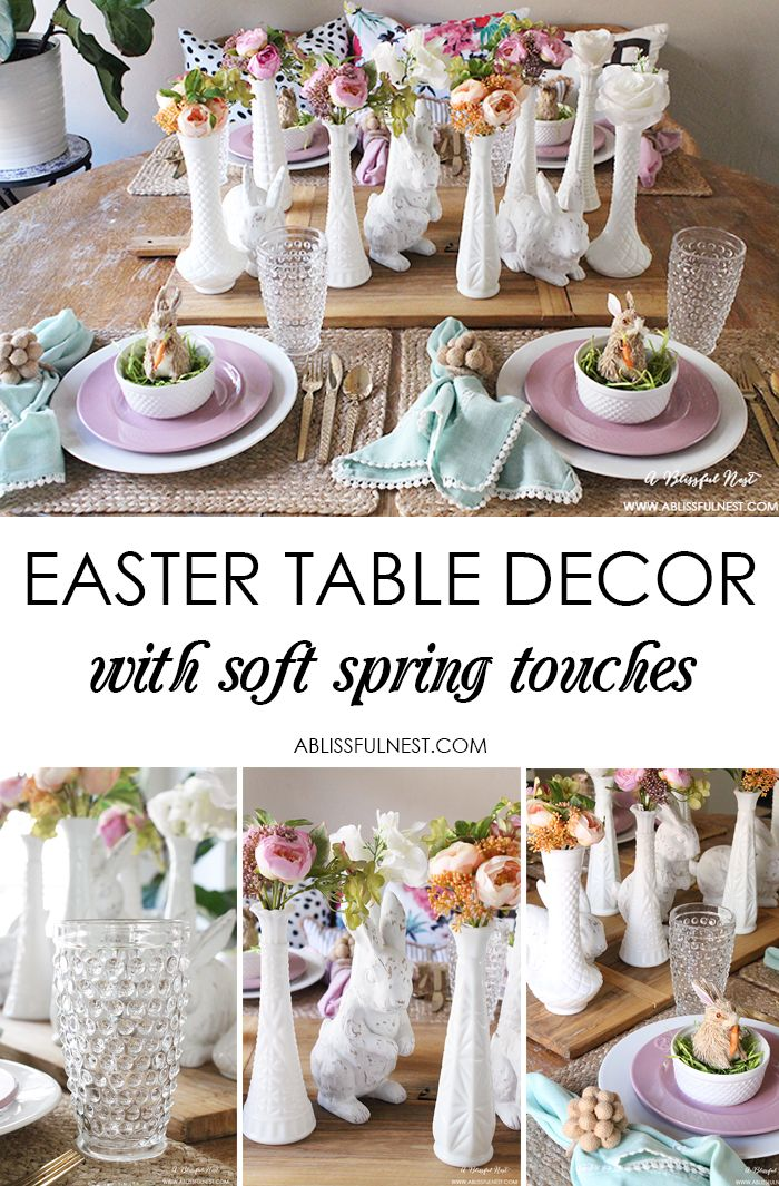 Easter Table Decor with Soft Spring Touches | Pinterest | Easter table settings Easter table and Table settings  sc 1 st  Pinterest & Easter Table Decor with Soft Spring Touches | Pinterest | Easter ...