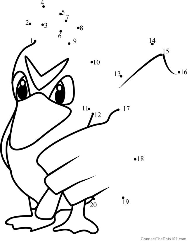 Farfetch\'d Pokemon GO dot to dot printable worksheet - Connect The ...