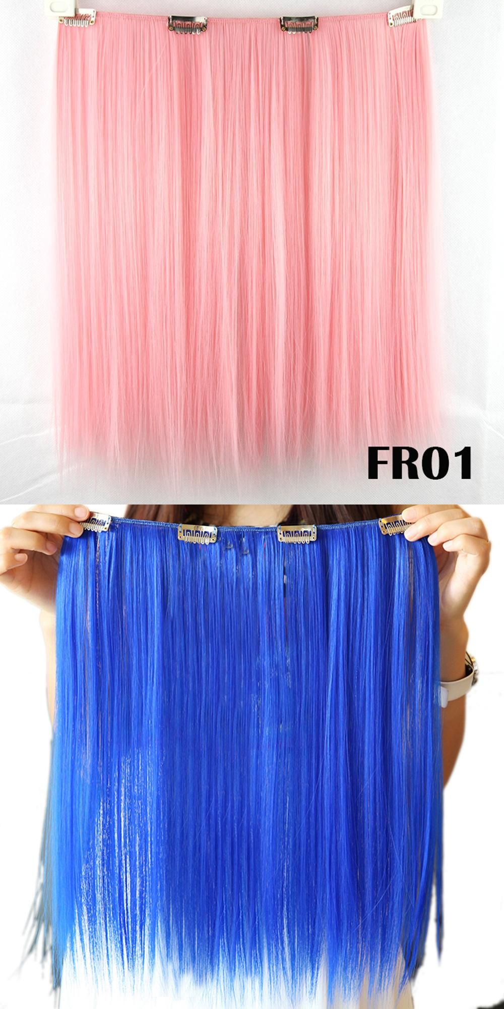 Soowee 9 Colors 42cm Synthetic Hair Straight Clip In Hair Extension