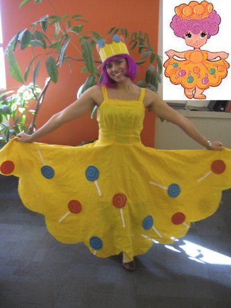 lollipop princess dress girls yellow tutu lollipop dress candyland birthday Princess Lolly Party Dress: candy land halloween costume