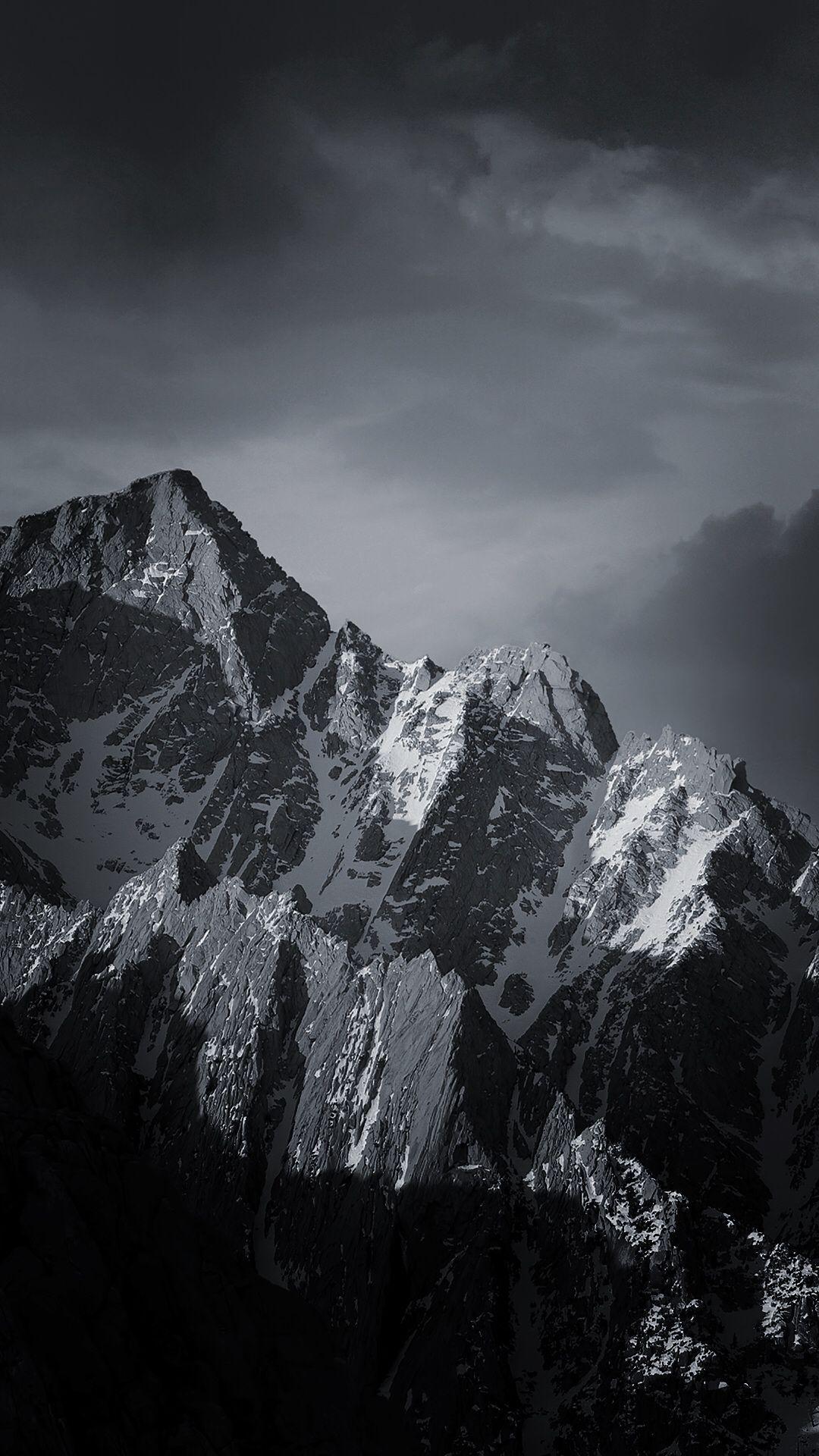 Mountainous Landforms Mountain Black Sky White Nature Iphone Wallpaper Nature Iphone Wallpaper Ios 11 Wallpaper Black Wallpaper Iphone