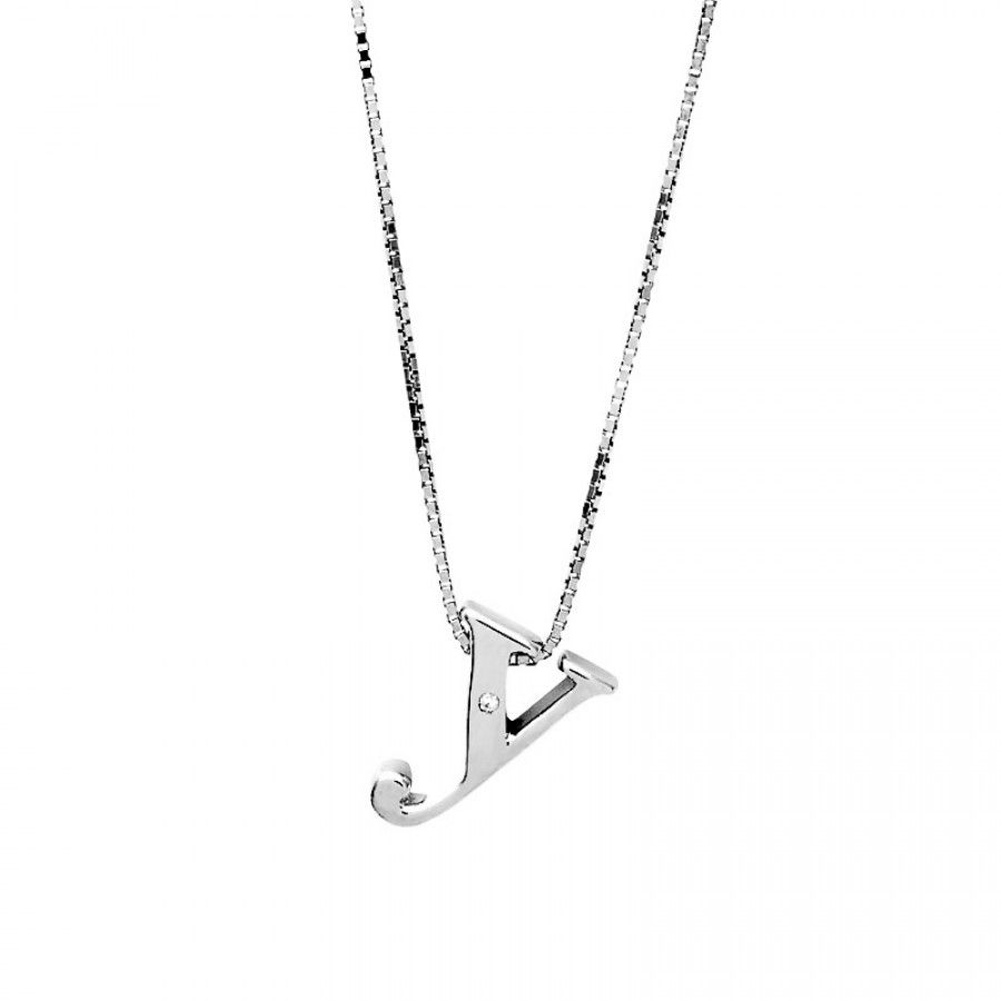Letter y silver diamond pendant silver initials letter personalise your jewellery with this beautifully detailed letter y initial pendant formed from highly polished sterling silver and set with a single one aloadofball Choice Image