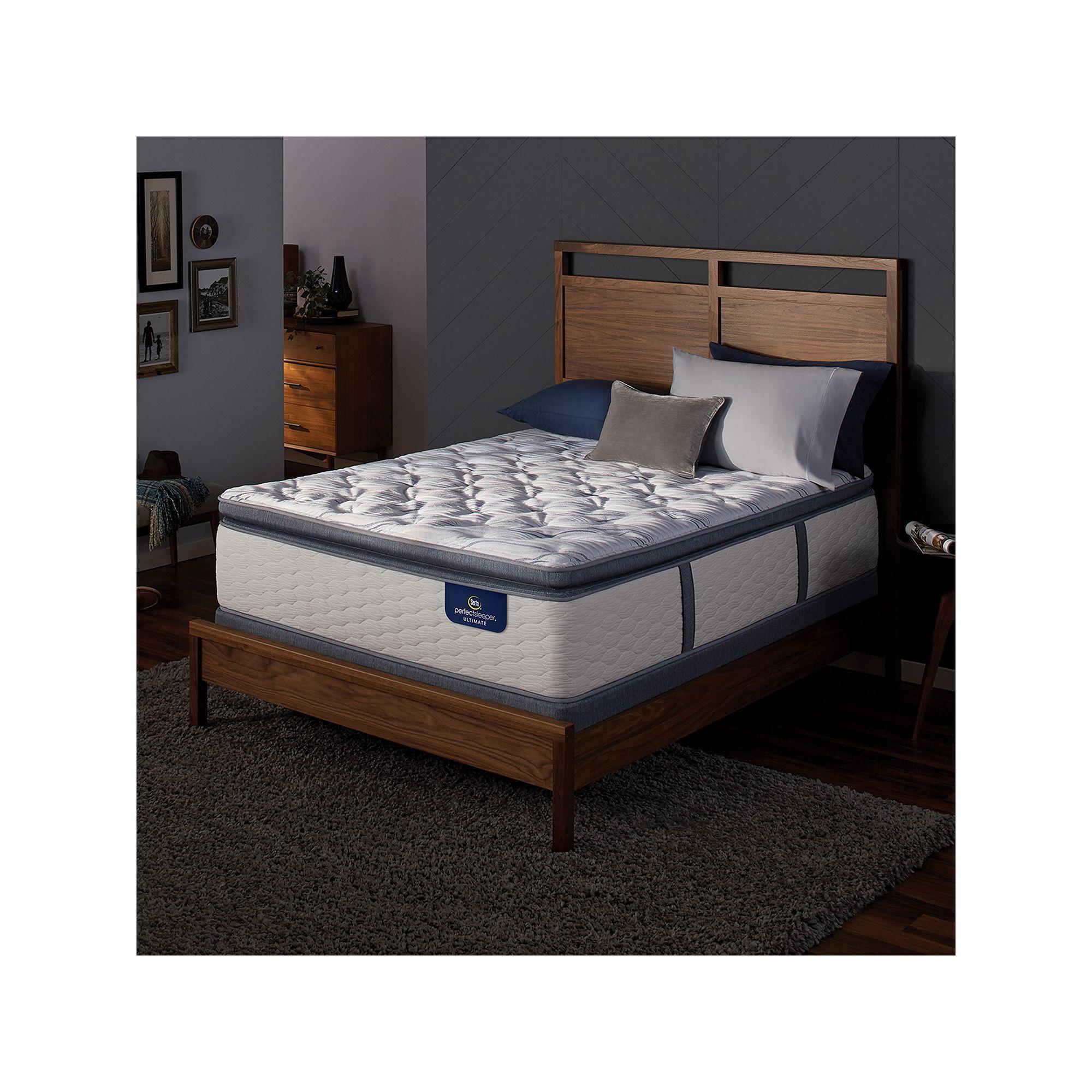 Serta Redbridge Super Pillow Top Firm Mattress Box Spring Set