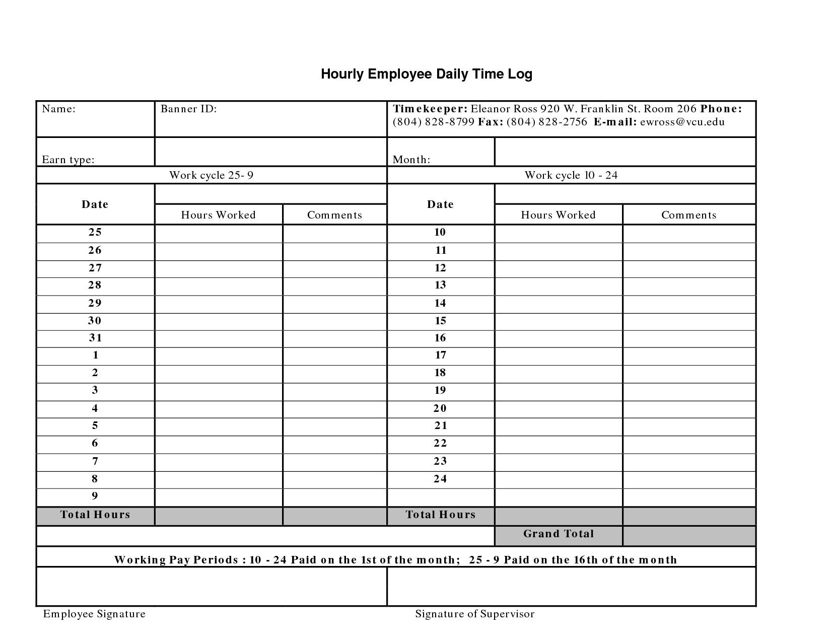 Daily Work Log Templates 10 Free Word Excel Pdf Formats Work