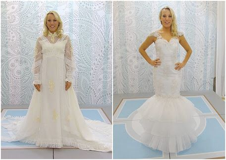 Mom S Old Wedding Dress Before And After Refashion In 2019