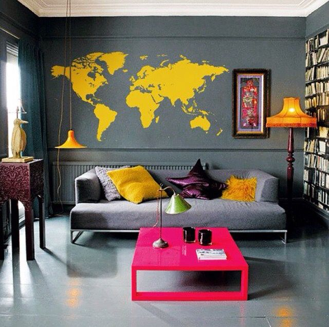 Yasssssss Industrial - Contemporary looks Pinterest Ytong - wohnzimmer grau magenta