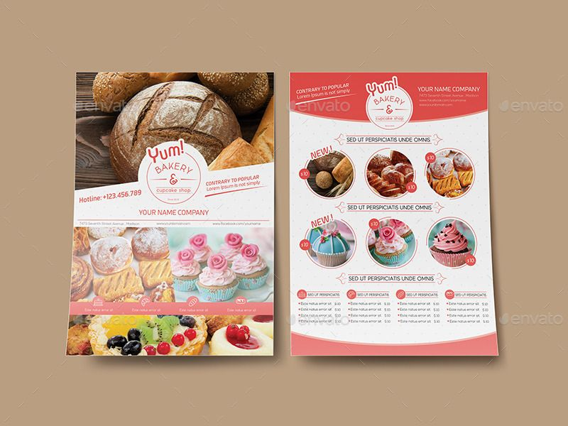Bakery Flyer Design Pinterest Brochures Flyer Template And - Bakery brochure template