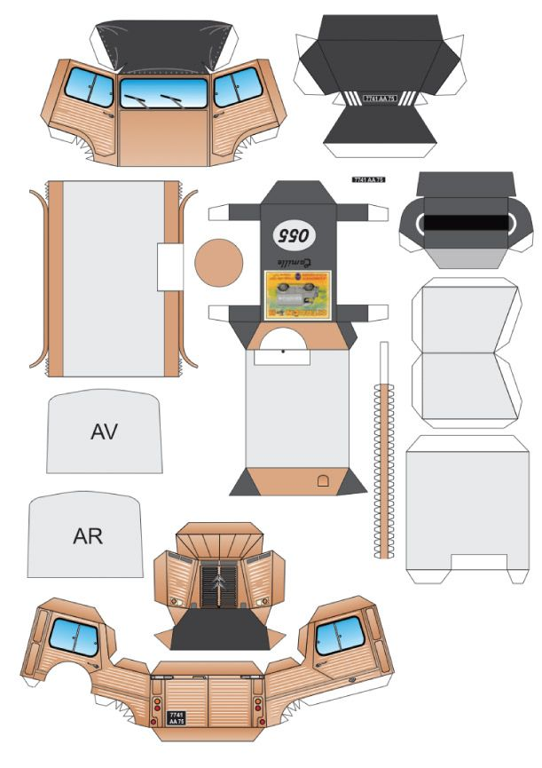 Blog Paper Toy Papercraft Command Car Camille Template Preview