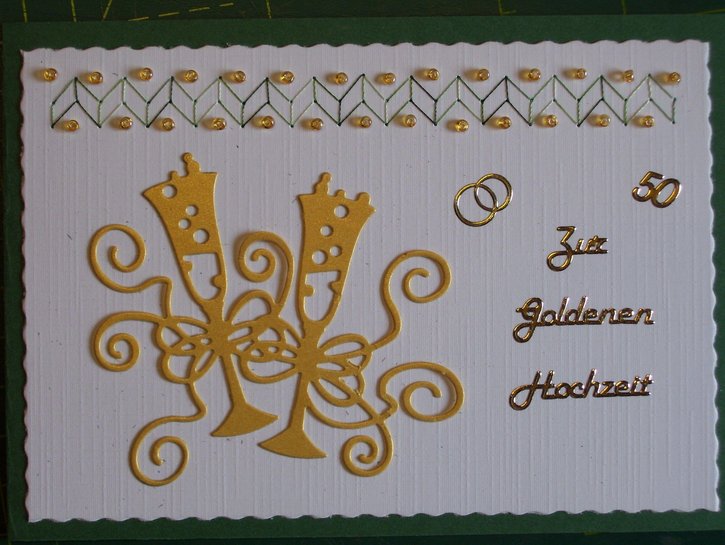Goldhochzeitskarte