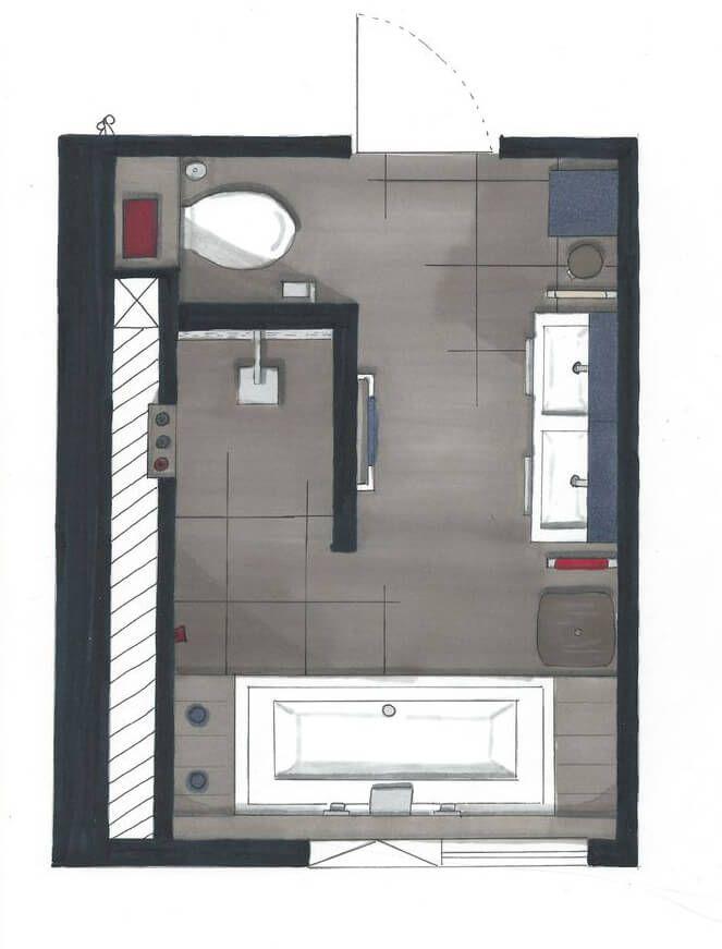 badkamer indeling - google zoeken | loft | pinterest, Deco ideeën