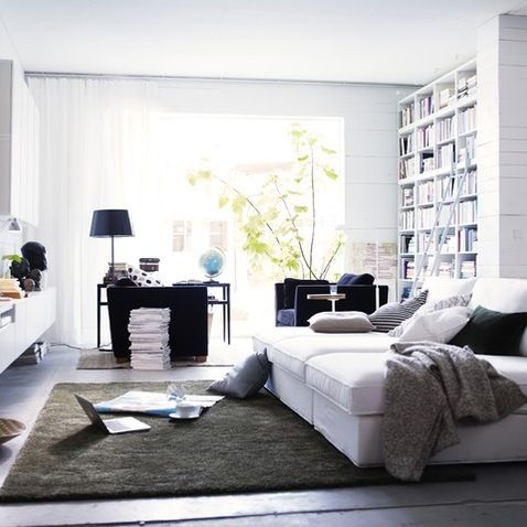 ikea living rooms home decor and details pinterest teppich anthrazit sofa wei und wei er. Black Bedroom Furniture Sets. Home Design Ideas