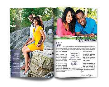 Magazine Wedding Invitation