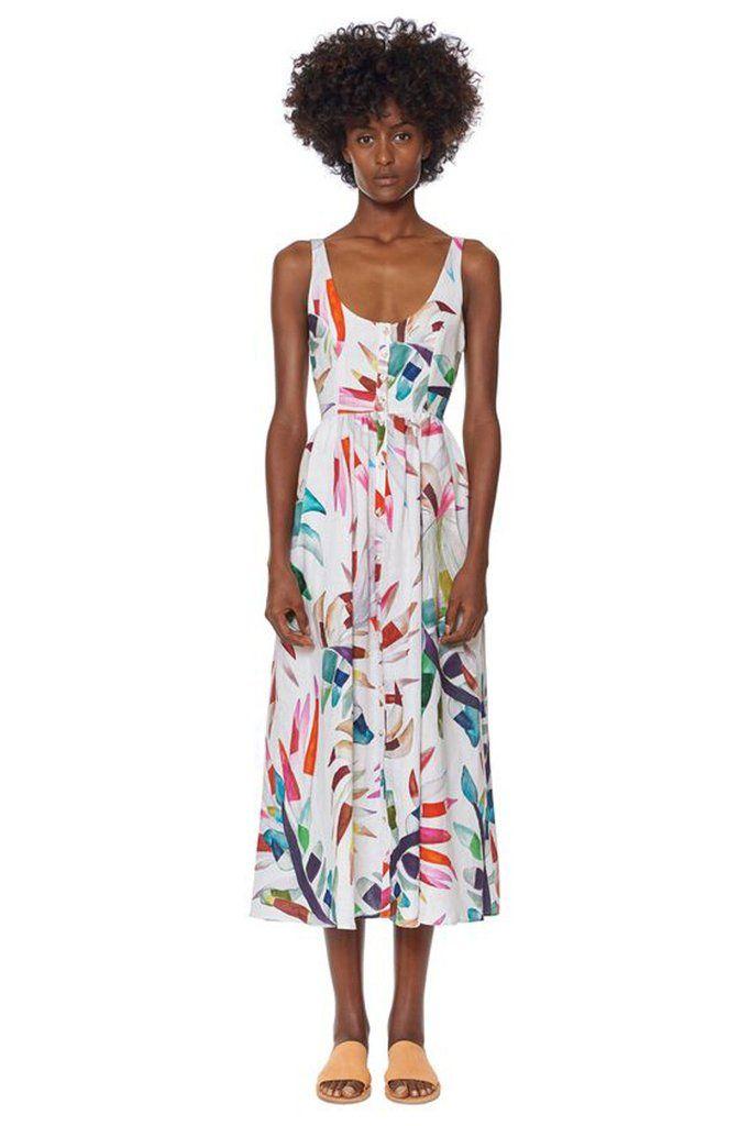4805cdb9172 placket front midi dress by mara hoffman. + button down