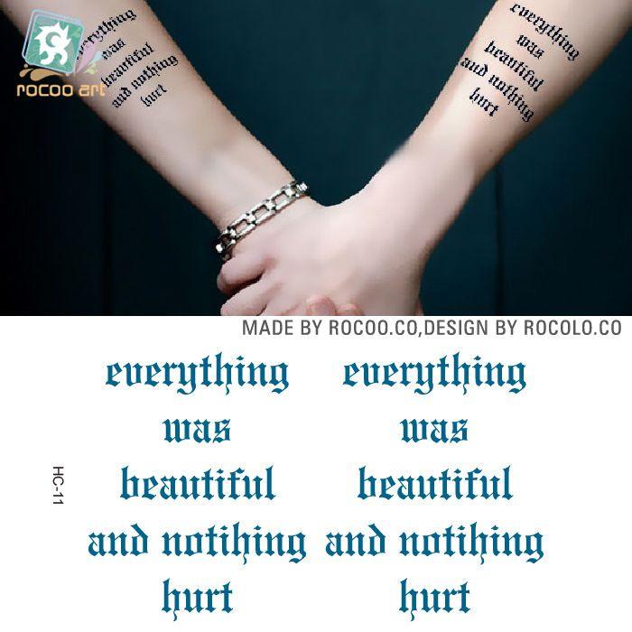 a6e1859dd 2pcs/lots Waterproof tattoo of male and female lovers of small fresh tattoo  tattoo English letter HC1011